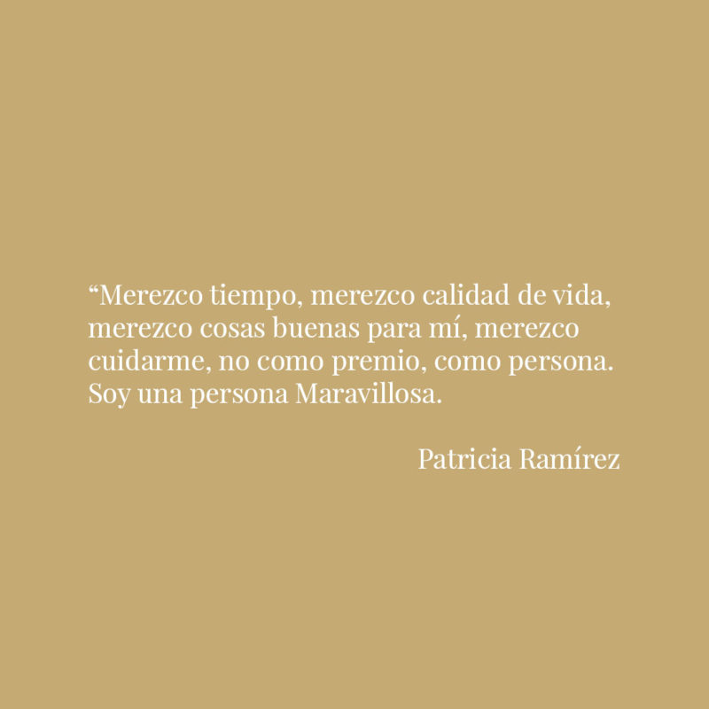 Frase Patricia Ramírez